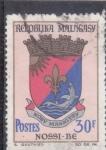 Sellos de Africa - Madagascar -  escudo de NOSSI-BE