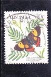 Sellos de Oceania - Australia -  mariposa