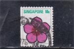 Sellos de Asia - Singapur -  flores-ilustración