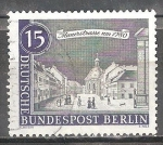 Sellos del Mundo : Europa : Alemania : Viejo paisaje urbano de Berlín,Wall Street en 1780.