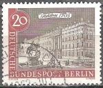 Sellos del Mundo : Europa : Alemania : Viejo paisaje urbano de Berlín,Castillo en 1703.
