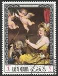 Stamps : America : El_Salvador :  Ras al Khaima - 45 - Cuadro del Museo de Louvre