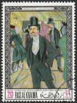 Stamps : Asia : United_Arab_Emirates :  Ras al Khaima - 45 - Cuadro del Museo de Sao Paulo