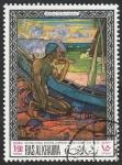 Stamps : Asia : United_Arab_Emirates :  Ras al Khaima - 45 - Cuadro de Gauguin, en el Museo de Sao Paulo