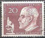 Sellos del Mundo : Europa : Alemania : Robert Koch (1843-1910), médico y microbiólogo, ganador del premio Nobel.
