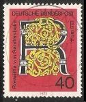 Sellos de Europa - Alemania -  Roswitha von gandersheim