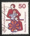 Stamps Germany -  25 jahre Müttergenesungswerk