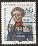 Stamps Germany -  Carl Von Clausewitz