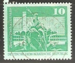 Stamps Germany -  Berlin Rathausstrake - Fuente de Neptuno