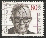 Stamps Germany -  Karl Barth