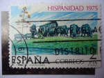 Stamps Spain -  Ed. 2294 - Hispanidad 1975 - La Carreta-Montevideo.