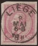 Sellos de Europa - Bélgica -  Rey Leopoldo II sin dentar 1884 10 centimos