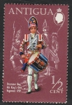 Stamps : America : Antigua_and_Barbuda :  253 - Uniforme militar, Tambor del 4º Regimiento Real