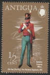 Stamps : America : Antigua_and_Barbuda :  274 - Uniforme militar, Oficial de Campaña