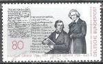 Sellos de Europa - Alemania -  Congreso Mundial de estudios alemanes, los hermanos Grimm.