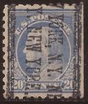 Sellos de America - Estados Unidos -  Benjamin Franklin  1914 20 centavos