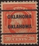 Sellos de America - Estados Unidos -  Benjamin Franklin  1917 30 centavos