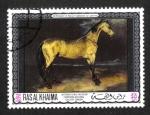 Stamps United Arab Emirates -  Las pinturas de las galerías de Londres, Munich y Sao Paulo, Ras al Kahima