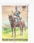 Stamps Central African Republic -  uniforme militar-ussard frances