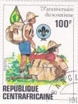 Sellos de Africa - Rep Centroafricana -  75º ANIVERSARIO SCOUT
