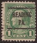 Sellos de America - Estados Unidos -  Benjamin Franklin  1922 1 centavo 11 perf