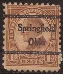 Sellos de America - Estados Unidos -  Warren Harding 1923 1,5 centavos perf 10