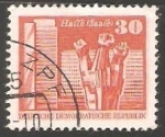 Stamps Germany -  halle saale