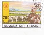 Stamps : Asia : Mongolia :  GANADO LANAR