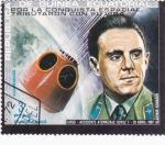 Stamps Equatorial Guinea -  AERONAUTICA-ACCIDENTE ATERRIZAJE SOYUZ 1 VLADIMIR KOMAROV