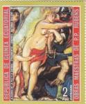 Stamps : Africa : Equatorial_Guinea :  OBRAS MAESTRAS DE RUBENS-alegoría de la paz y la guerra