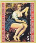 Stamps : Africa : Equatorial_Guinea :  OBRAS MAESTRAS DE RUBENS-Bethsabee en el baño