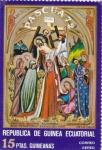 Stamps : Africa : Equatorial_Guinea :  PASCUA-72- Descenso de la cruz