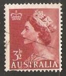 Stamps Australia -  Reina Isabel II