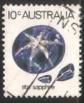 Sellos de Oceania - Australia -  Star saphire -Zafiro estrella