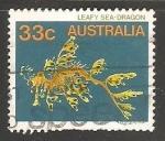 Sellos de Oceania - Australia -  Leafy sea dragon - dragón de mar foliáceo