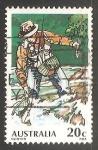 Sellos de Oceania - Australia -  Pescador