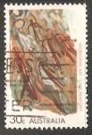Sellos de Oceania - Australia -  Aboriginal art cave painting