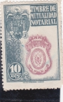 Stamps Spain -  TIMBRE DE MUTUALIDAD NOTARIAL (24)