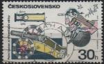 Stamps Czechoslovakia -  CAÑÒN  DE  GUERRA  ENTRE  HUSSITE  Y  St.  BÀRBARA