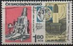 Stamps Czechoslovakia -  CAÑÒN  DEL  SIGLO  XX,  NAVE  ESPACIAL  COLUMBIA  Y  JULIO  VERNE