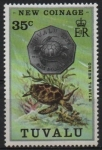 Stamps Tuvalu -  TORTUGA  VERDE  Y  MONEDA