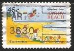 Sellos de Oceania - Australia -  Sandy beach - Playa de arena