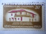 Stamps Colombia -  Serie del sesquicentenario de la Independencia 1810-1960 - Casa del Florero, cuna de la República.
