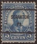 Sellos de America - Estados Unidos -  Theodore Roosevelt  1923 5 centavos 11x10 perf