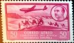 Stamps Spain -  Intercambio jxi 0,25 usd 50 cents. 1951