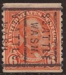 Sellos de America - Estados Unidos -  James A Garfield 1923 6 centavos dent vert 9,5 perf