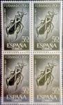sellos de Europa - España -  Intercambio 1,20 usd 4 x 50 cents. 1965