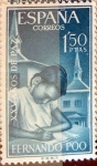 Stamps of the world : Spain :  Intercambio 0,30 usd 1,50 ptas.. 1964