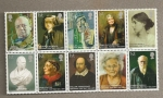 Stamps of the world : United Kingdom :  Personajes célebres