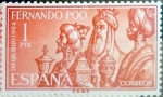 Stamps Spain -  Intercambio cr2f 0,25 usd 1 pta. 1964